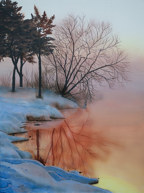 Cold Winter Morning  (18x14)