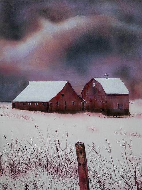 Amish Winter  (16x12)