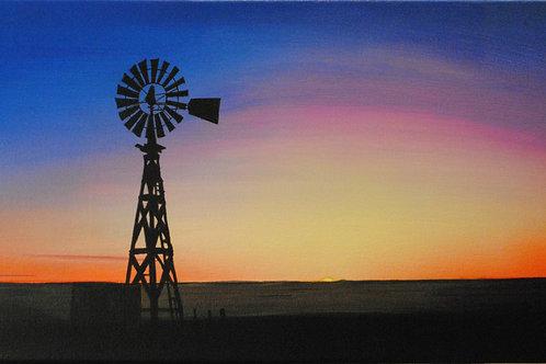 Plains Windmill  (14x32)