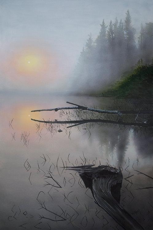 Lake Sunrise  (24x16)