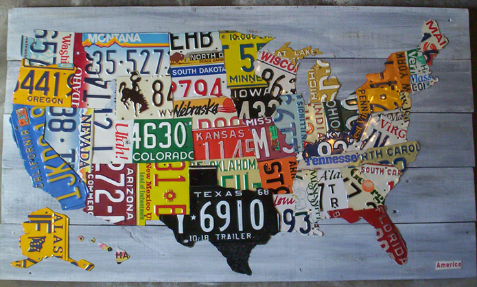 License Plate State Map.License Plates Herecomestheclass