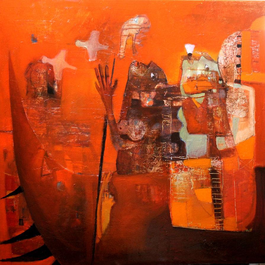l'exode de l'âme  huile sur toile 80 x 80 cm .jpg