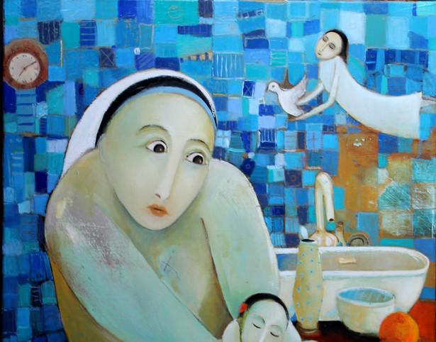 Le bain bleu