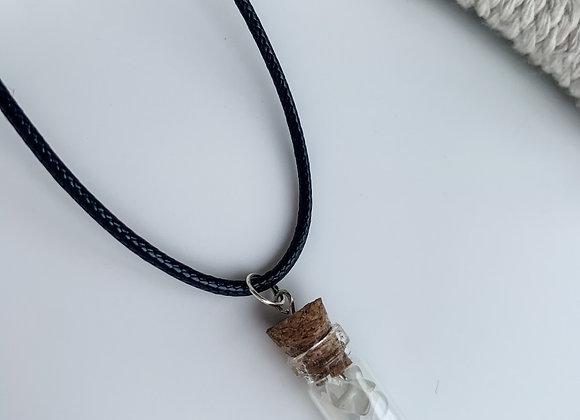 Gemstone mini jar necklaces