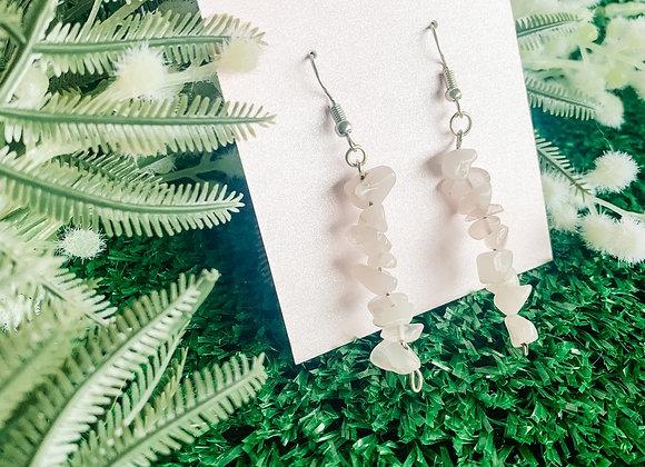 Crystal gemstone hook earrings