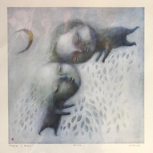"""Here I Am"" Art Print by Kana Handel"