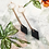 Thumbnail: Diamond Drop Hoop Earrings