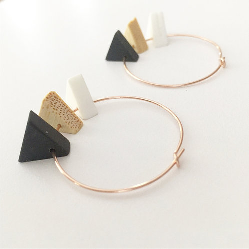 Tri_Shape Hoops /rose gold