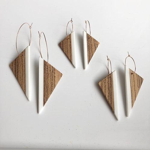 Triangle Edge Earrings