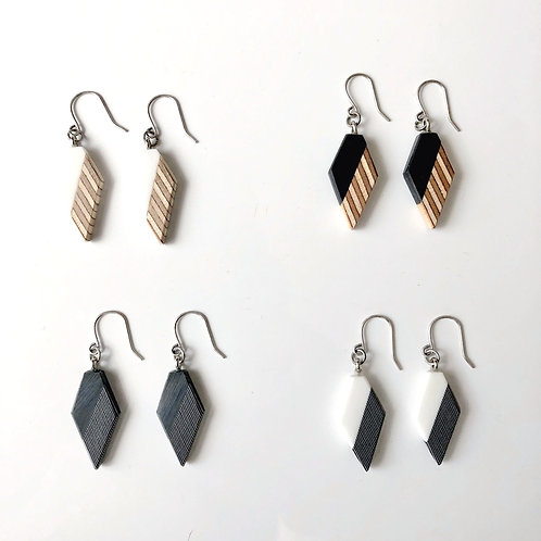 Angular Diamond Earrings