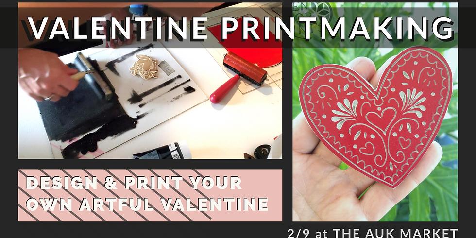 Valentine Printmaking!