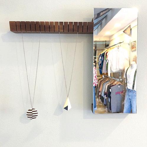 Modern Jewelry Hanger + Mirror Unit