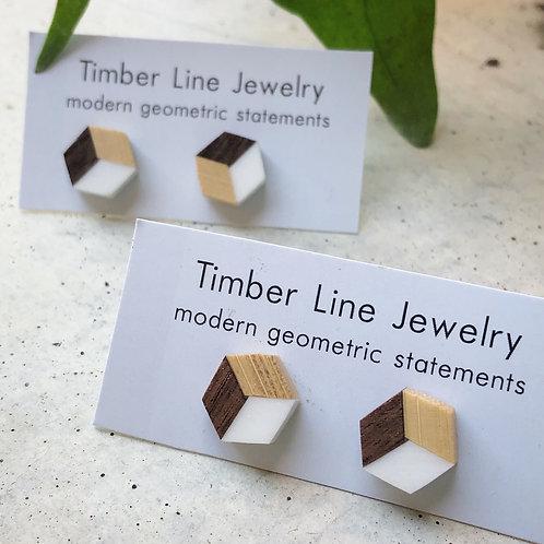 Cube Post Earrings