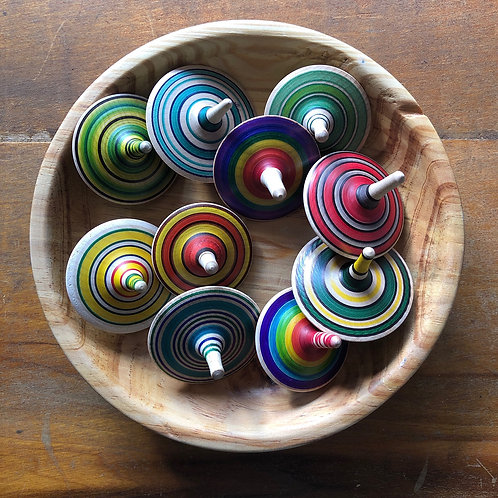 Wood Toy Tops
