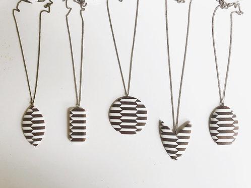 Linear Pattern Necklace