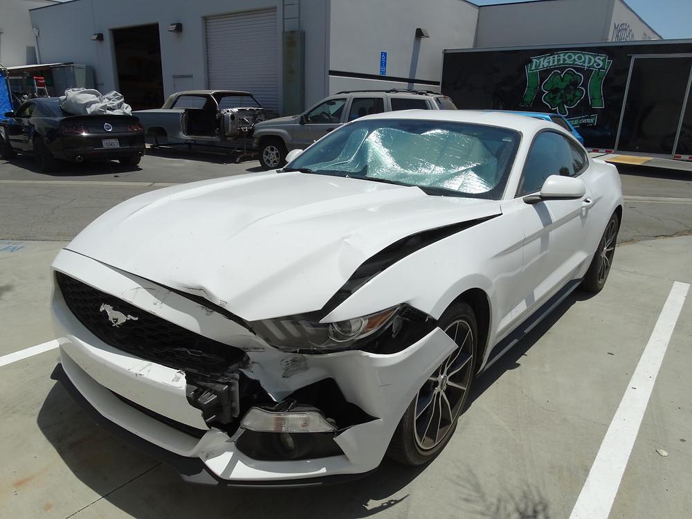 Mustang front end repair, Plus Radiator and AC.