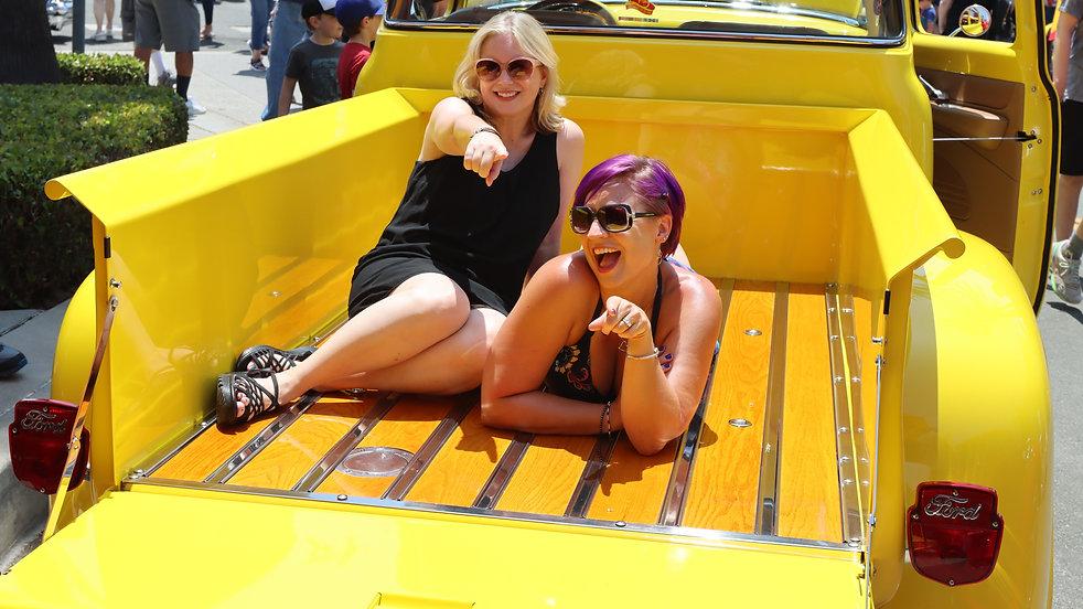 Classic Cars-Trucks and Women-yellow-Girls.JPG