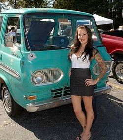 Hot Rods and Custom Cars.Ladies