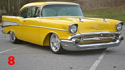 Hot Rods and Custom Cars.chevy 57