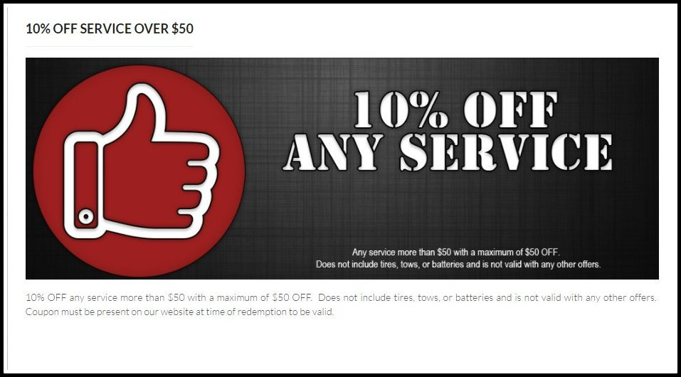 Coupon for Randys Automotive and Transmissions in Anaheim CA For 10% Off Any Service