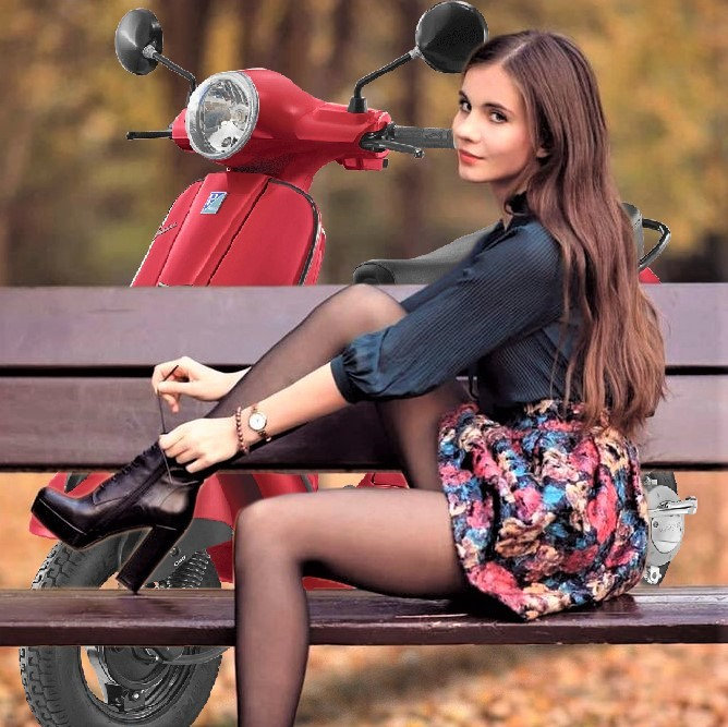 Hot Women and Scooters-Vespa Girls and their Shoes-Moped Women.jpg