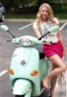 Vespa Girls-Hot Women and Scooters-Green