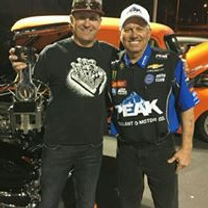 Tom with John Force