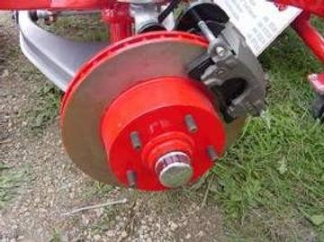 Brake rotor and brake pads