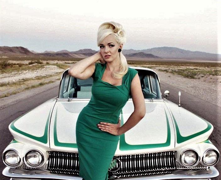 Classic Cars and Women-California Girl