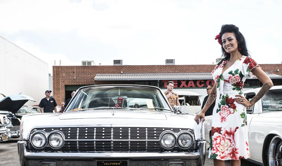 Classic Cars and Dressed Women