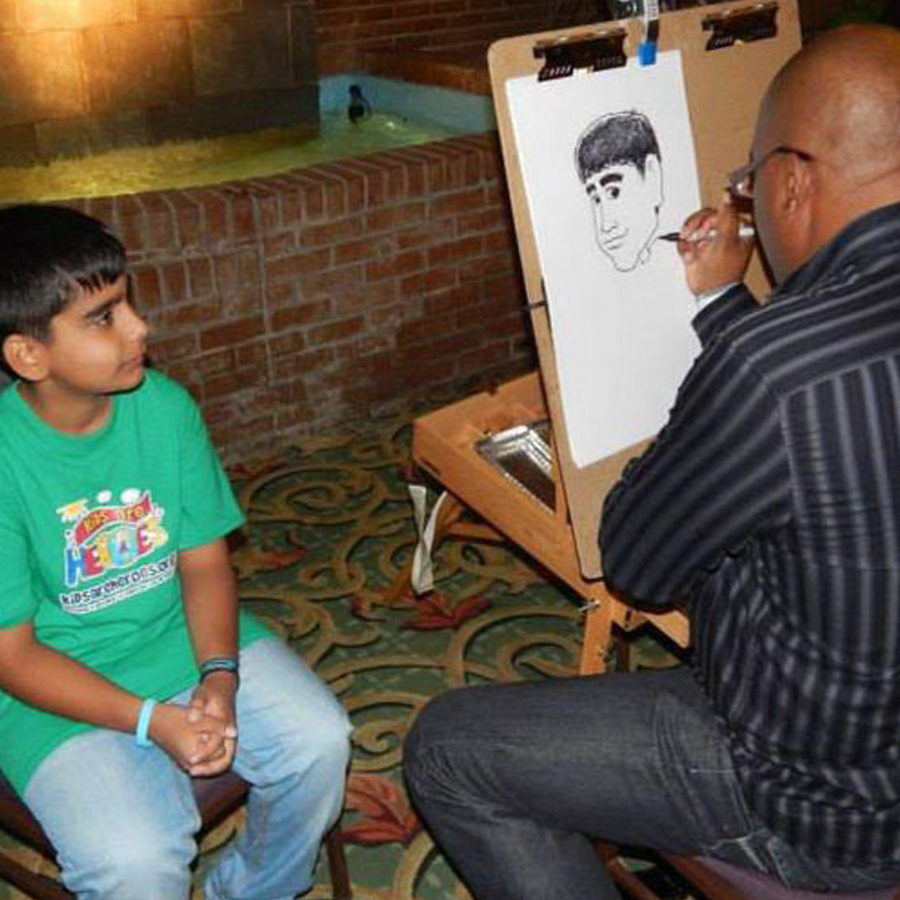 On site caricatures by Kerry