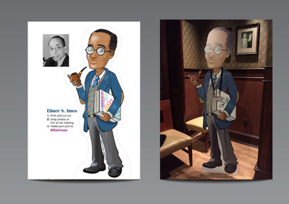 Elmer S. Imes stand-up caricature