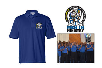 LOGO: Men In Ministry golf shirt