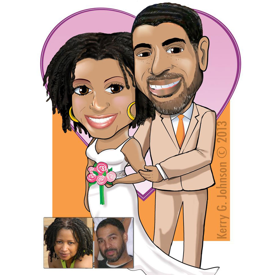Wedding couple caricature 1