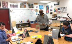 Kerry Teaches Comic Art to Students