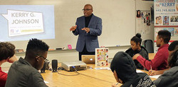 Kerry speaks at Atholton High School's Career Day