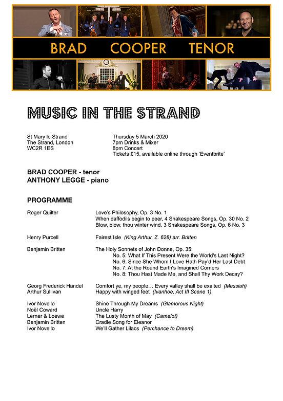BRAD COOPER - Music in the Strand - Marc