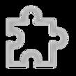Pièce de puzzle gris