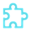 Pièce de puzzle bleu