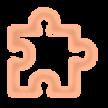 Pièce de puzzle orange