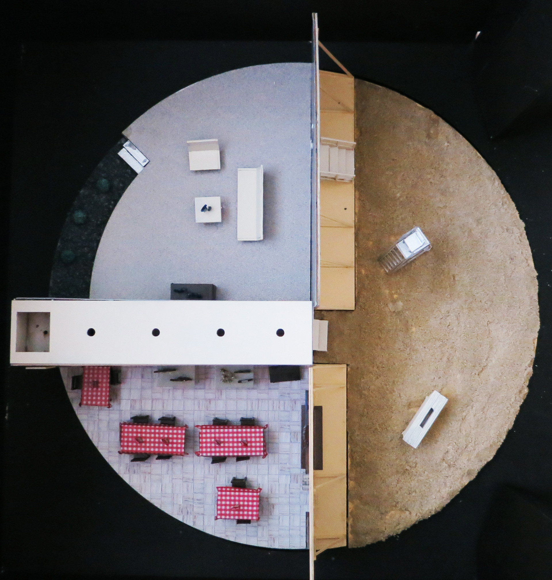 Stage Design seen from the top