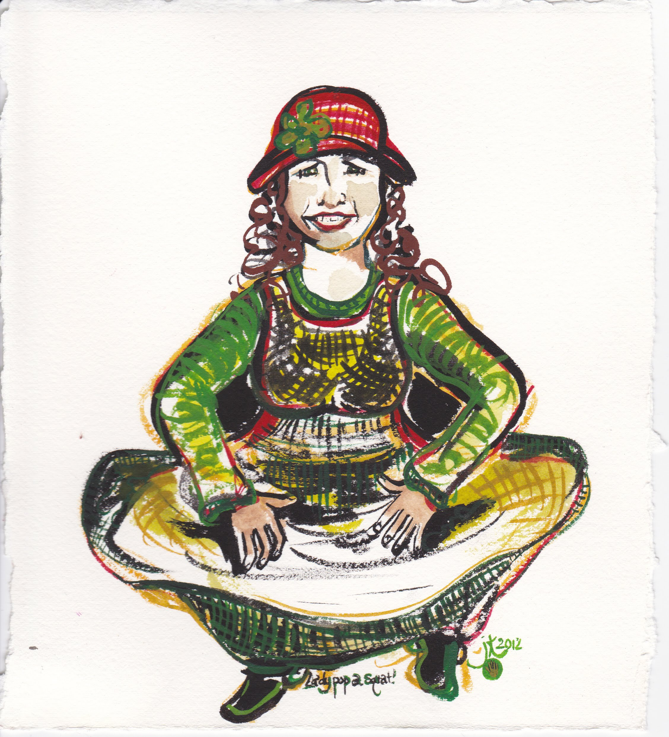 Lady Pop A Squat 2013