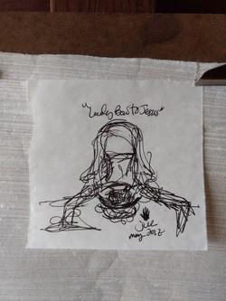 Lady Bow to Jesus