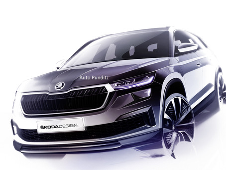 Škoda offers a first glimpse of the upcoming Kodiaq