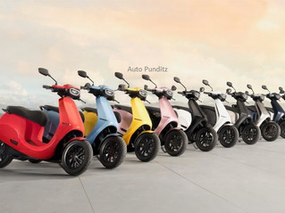 Ola Electric reveals the full range of colors for its upcoming scooter!