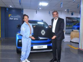 Renault India presented Kiger to Tokyo Olympics Silver Medalist Saikhom Mirabai Chanu!