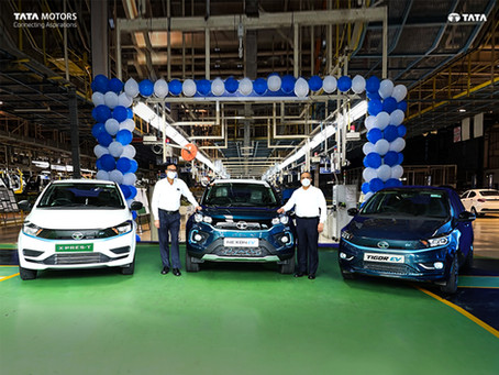 Tata Motors EV sales achieve the 10,000 units milestone!