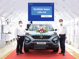 Tata Motors rolls out the 10,000th unit of the All-New Safari!