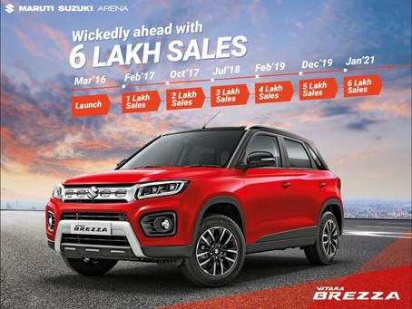 Maruti Suzuki Vitara Brezza becomes India's fastest-selling compact SUV to clock 6 lakh sales!