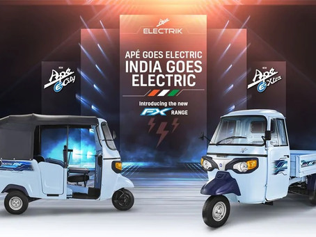 Electric Three Wheelers Rolled Out by Piaggio starting at Rs. 2.83 Lakhs